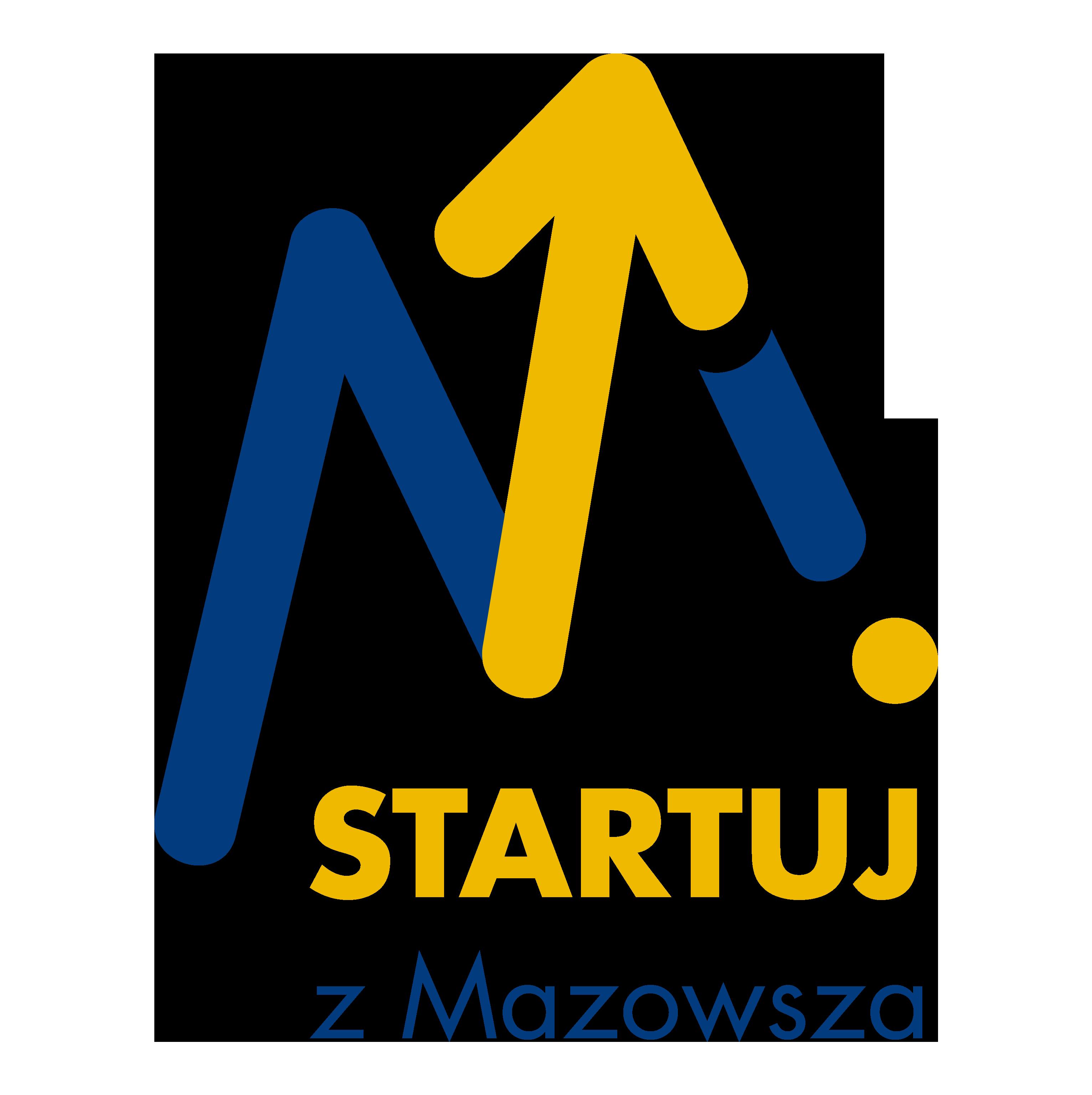 Logo konkursu Startuj z Mazowsza