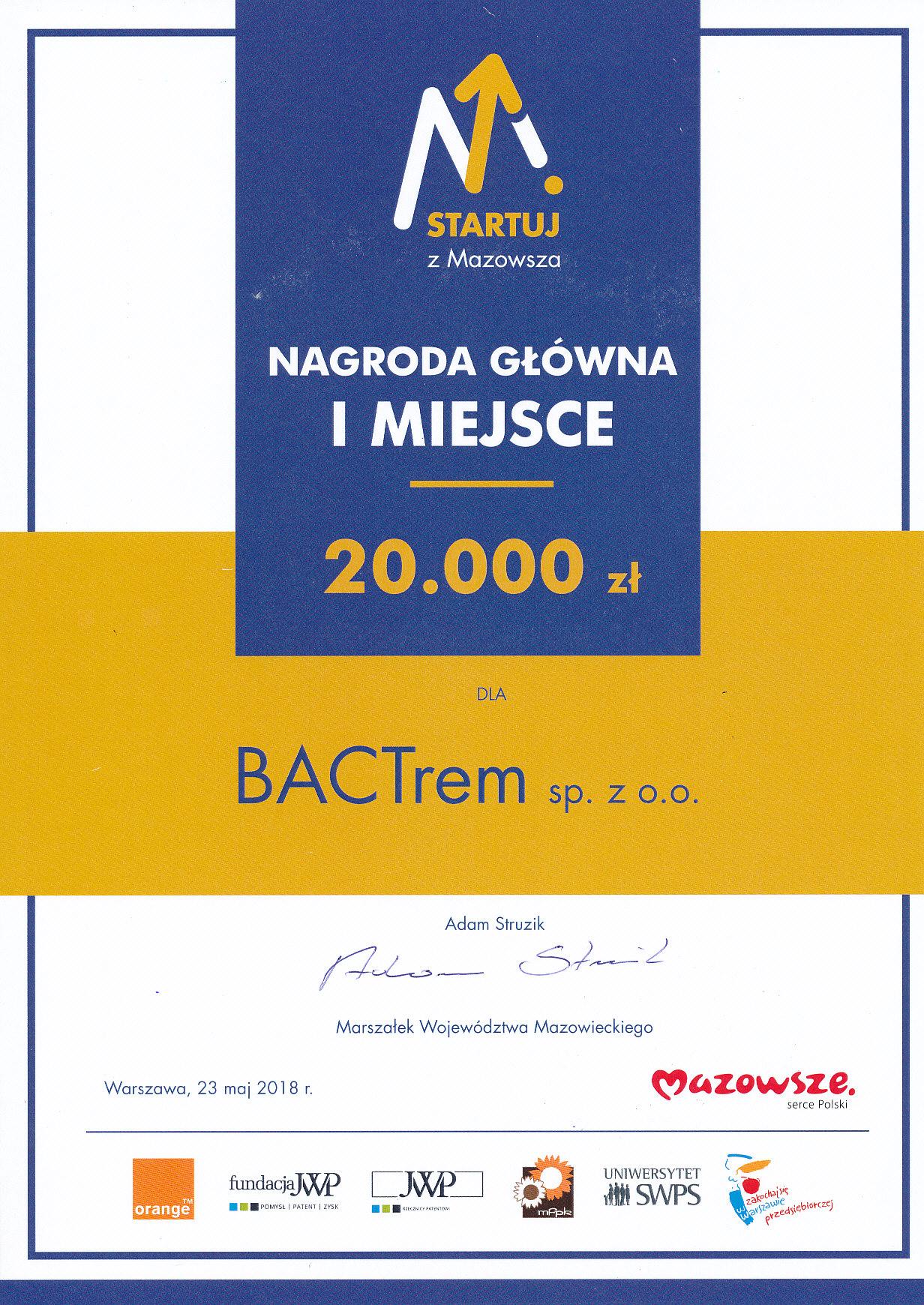 Plakat Startuj z Mazowsza